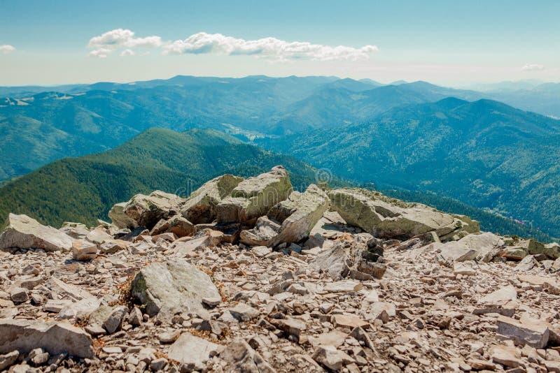 Beautiful mountain landscapes with the Ukrainian Carpathians stock photos