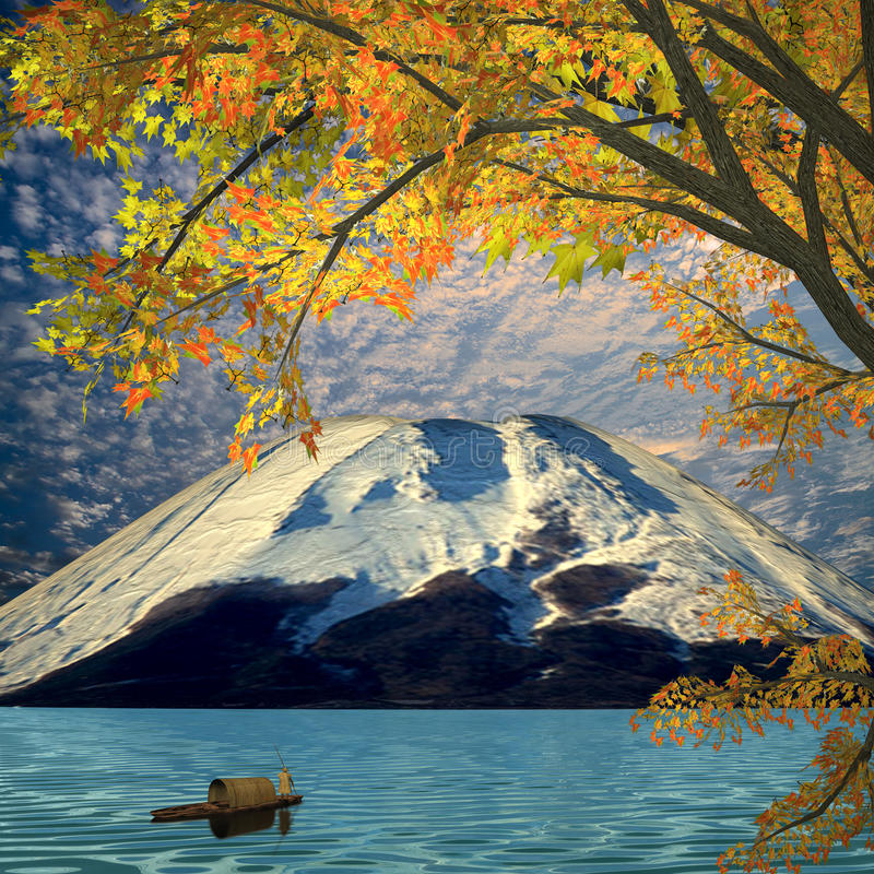 Download Beautiful Mountain And Maple Stock Images - Image: 27750214