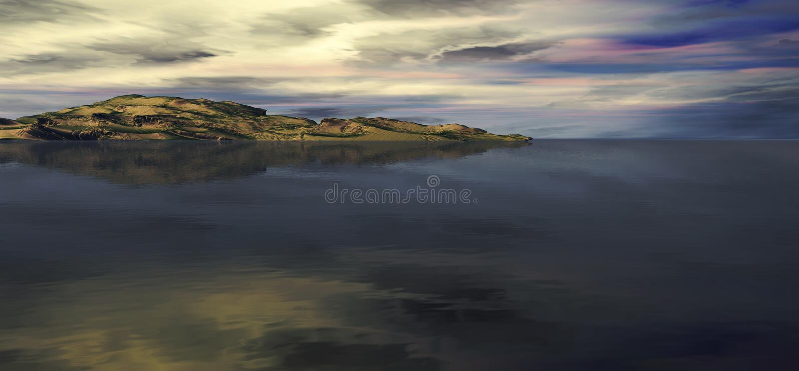 Download Beautiful Mountain And Ocean Stock Illustration - Image: 1927995