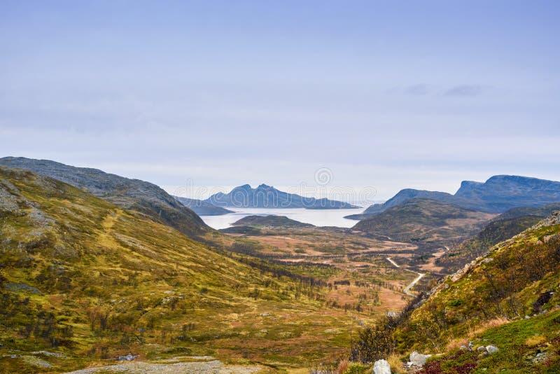 Beautiful mountain range landscape, Tromso, Norway royalty free stock images