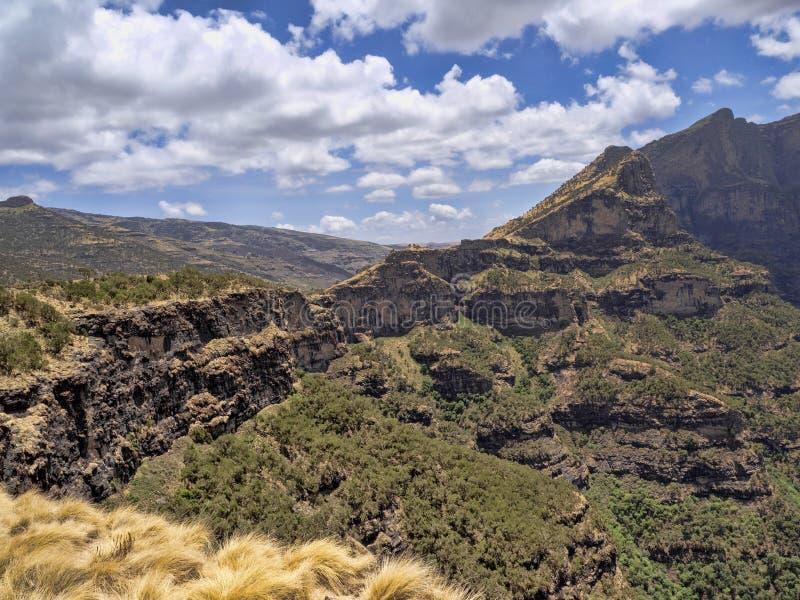 Beautiful mountain range in Simien Mountains National Park in Ethiopia stock image