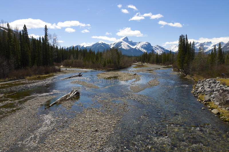Beautiful mountain river scene royalty free stock photo