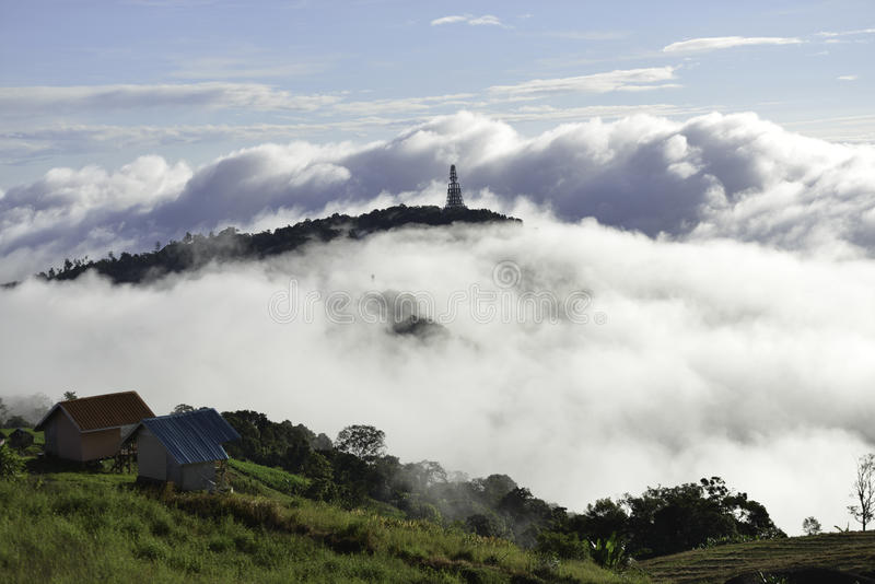 Beautiful mountain scenery in Phutabberk Phetchabun, Thailand stock photography
