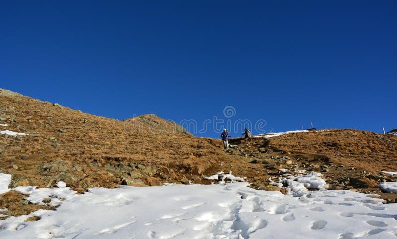 The beautiful mountain in Switzerland. stock image