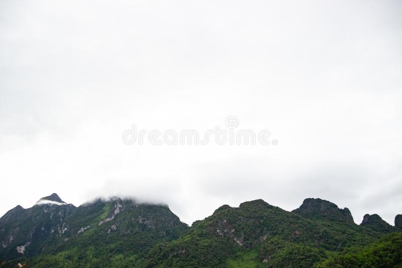 The beautiful mountain view with clean air. The mountain view with clean air for freshness life that a good thing royalty free stock image