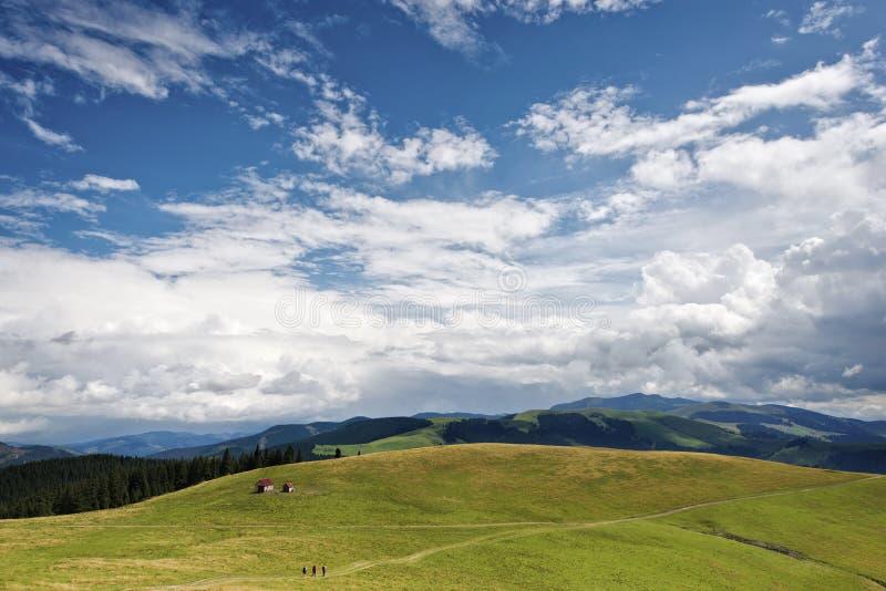 Beautiful mountain view in Rodnei mountains, Romania stock image