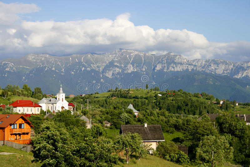 Beautiful mountain village landscape royalty free stock photos