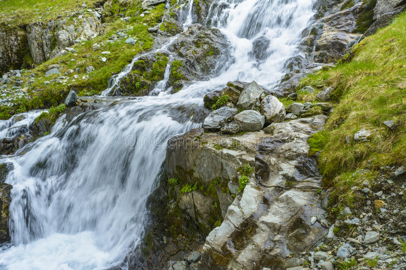 Mountain waterfall stock image