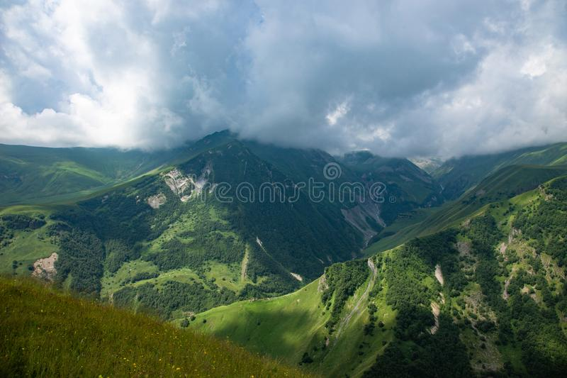 Beautiful mountainous area of Georgia. Summer landscape royalty free stock photo