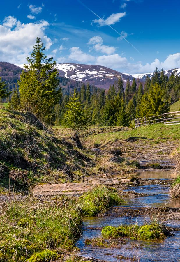 Beautiful mountainous countryside in springtime royalty free stock photography