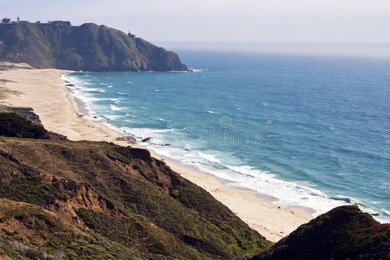 Beautiful Mountainous Pacific Ocean Coastline stock images