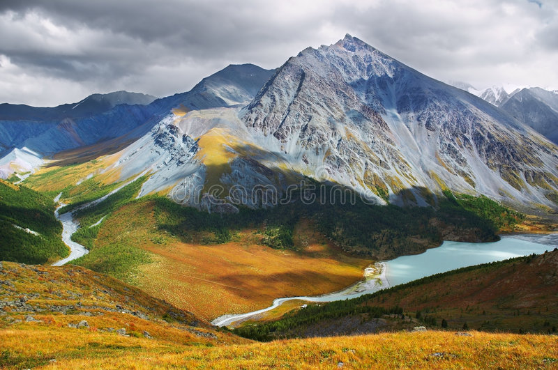 Download Beautiful mountains. stock image. Image of spruce, travel - 628543