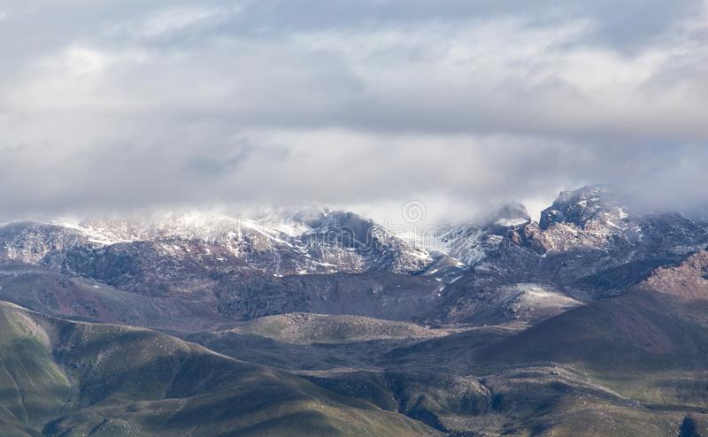 Beautiful mountains in Kyrgyzstan royalty free stock photography