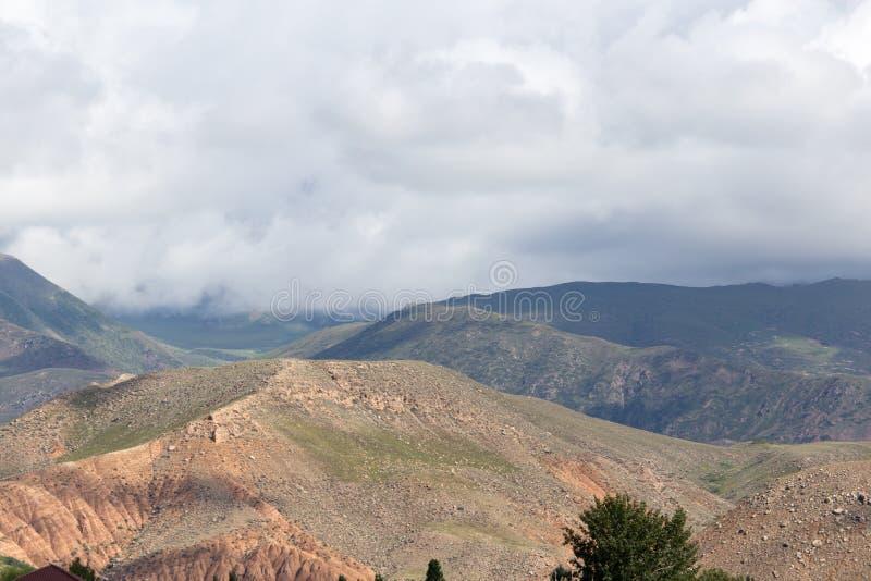 Beautiful mountains in Kyrgyzstan stock photos