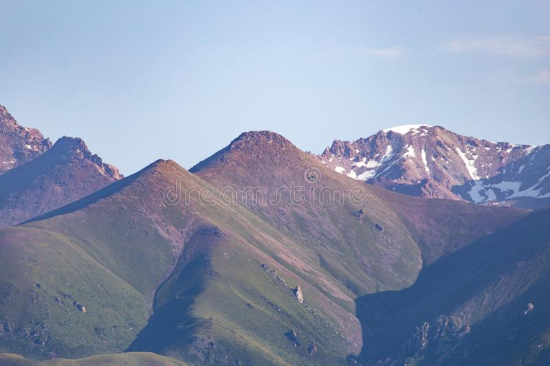 Beautiful mountains in Kyrgyzstan stock images