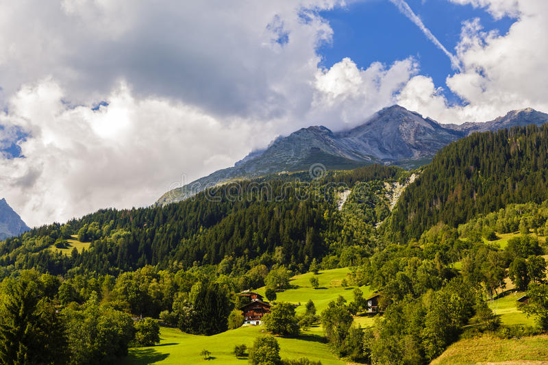 Beautiful mountains landscape in Alps stock image