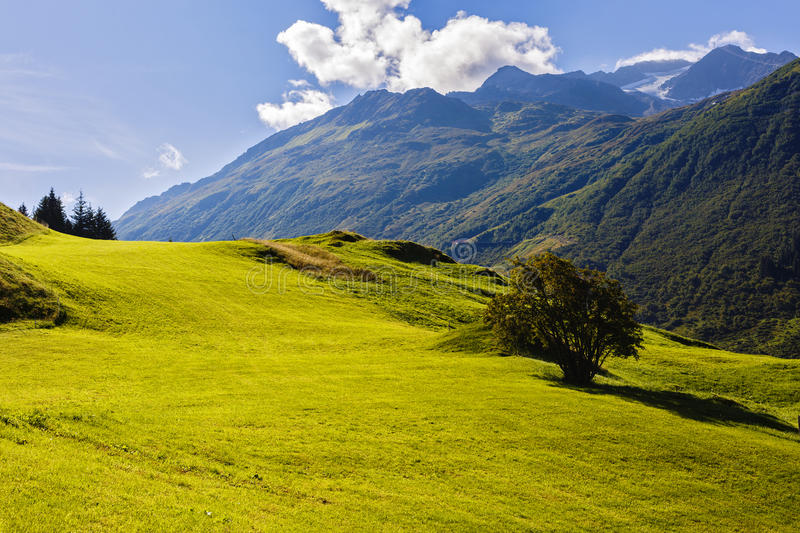 Beautiful mountains landscape in Alps stock photography