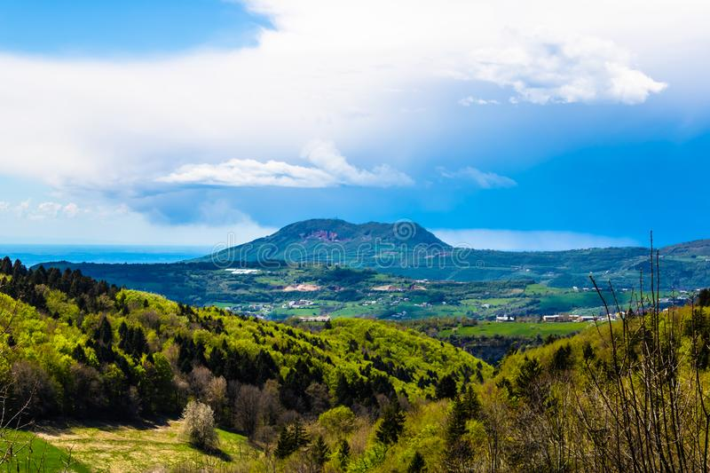 Beautiful mountains landscape in spring, Italy - Image royalty free stock images