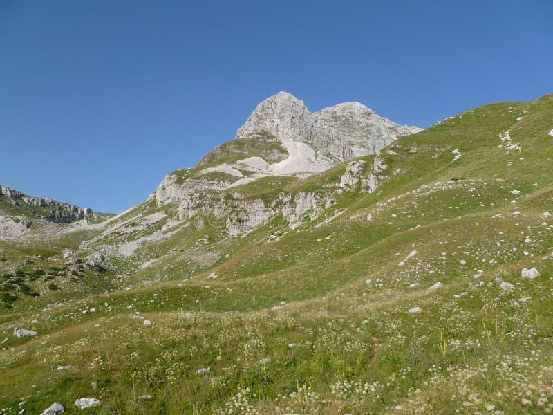 Beautiful mountains with rocks stock photos