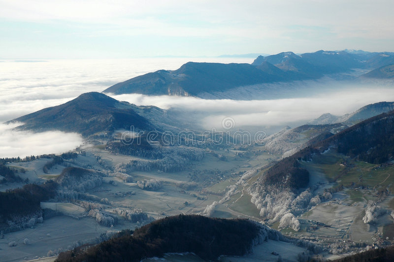 Beautiful mountains skies and clouds. Beautiful mountains, skies and clouds stock photo