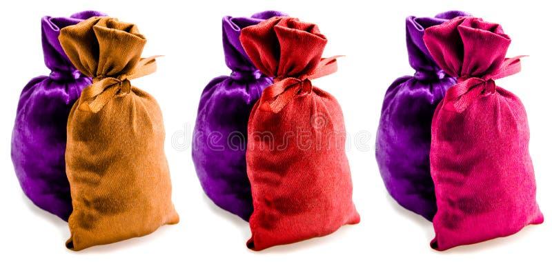 Beautiful Multi-coloured Sacks Royalty Free Stock Images