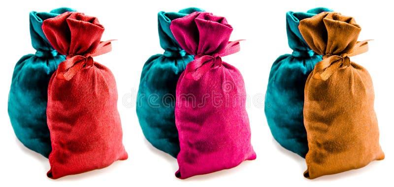 Beautiful Multi-coloured Sacks Stock Photo