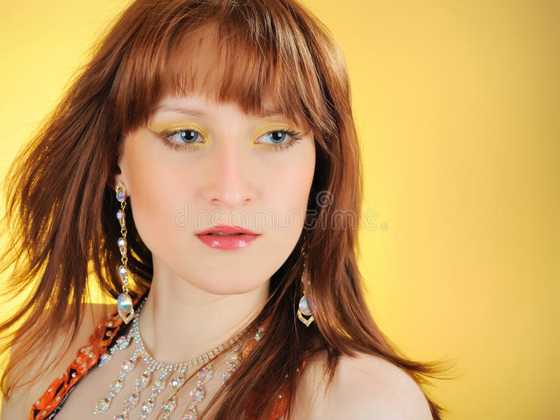 Download Beautiful Mystic Woman With Golden Make-up Stock Photo - Image: 14615446