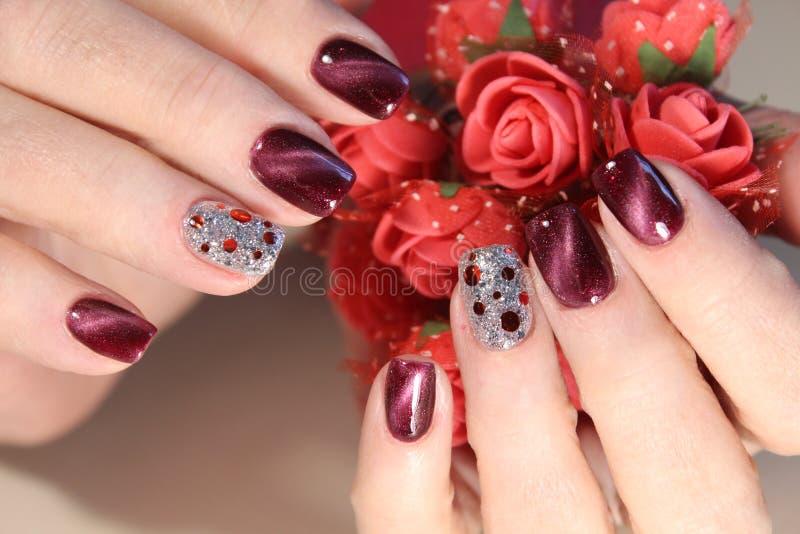 Beautiful Nail Art Manicure royalty free stock image