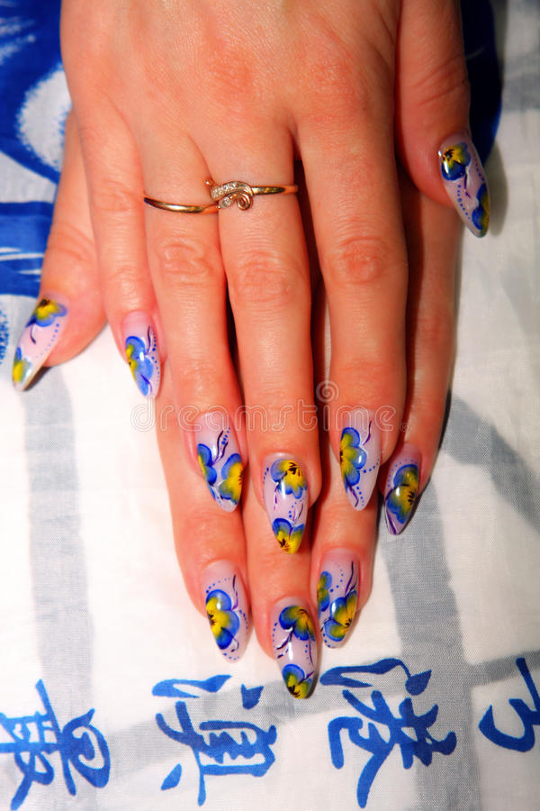 Download Beautiful nails with Art stock photo. Image of femininity - 20578884
