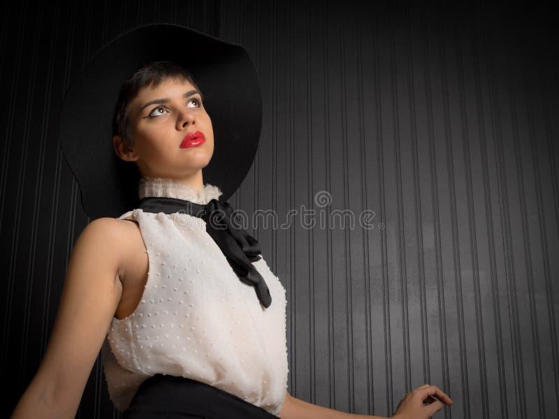 Beautiful Native American Female Portrait stock photography
