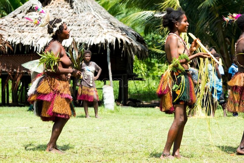 Beautiful native women at dance ceremony, Kopar village, Sepik River, Papua New Guinea stock photo