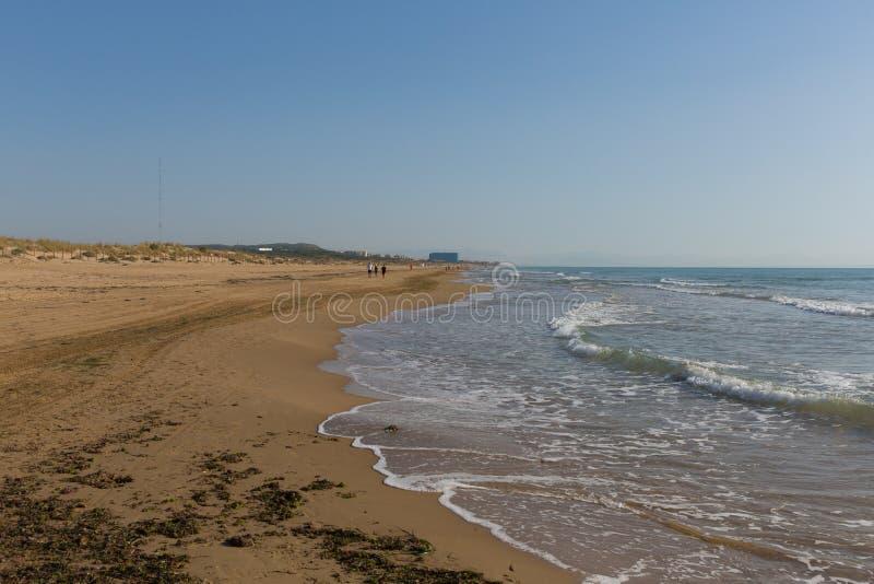 Beautiful natural beach between Torre La mata and Guardamar de Segura Costa Blanca Spain. Costa Blanca beautiful natural beach between Torre La mata and stock photo