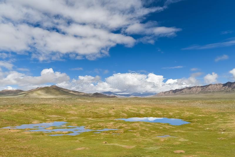 Beautiful natural scenery in qinghai-tibet plateau royalty free stock photos