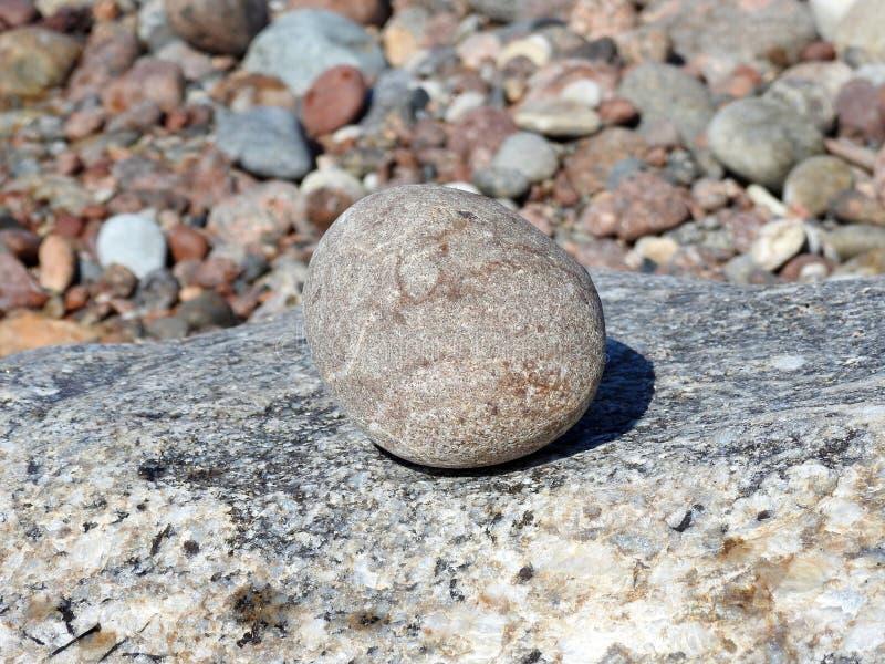 Beautiful stones on Baltic sea coast, Lithuania royalty free stock photography