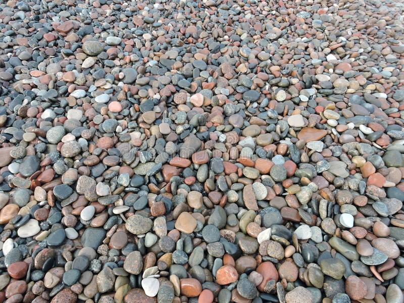 Beautiful natural stones on sea coast, Lithuania royalty free stock images