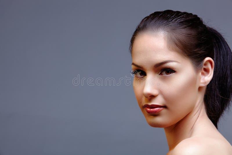 Beautiful natural woman stock image