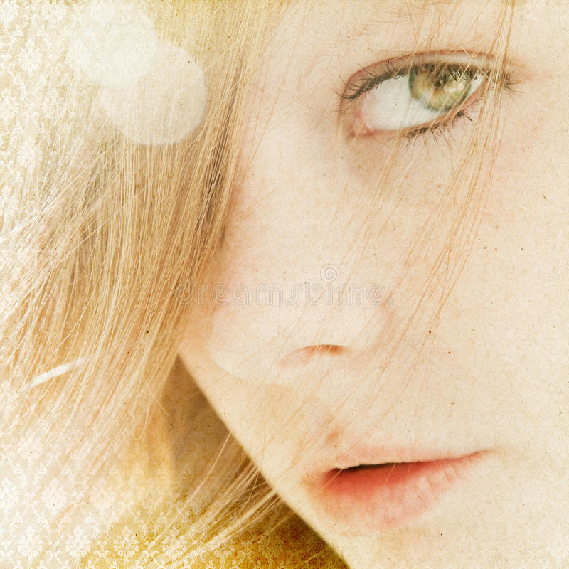 Beautiful, natural woman portrait. Close up stock images