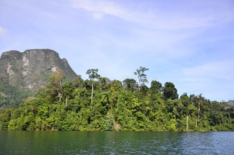 Beautiful nature Island Dam royalty free stock photo