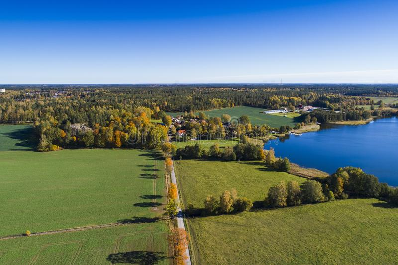 Beautiful nature and landscape photo of colorful autumn day in Sweden. Katrineholm Sweden. Beautiful nature and landscape photo of colorful autumn day in royalty free stock images