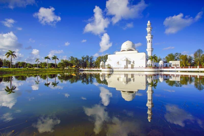 Beautiful nature landscape of Terengganu, Malaysia, Masjid Tengku Tengah Zaharah. royalty free stock photos