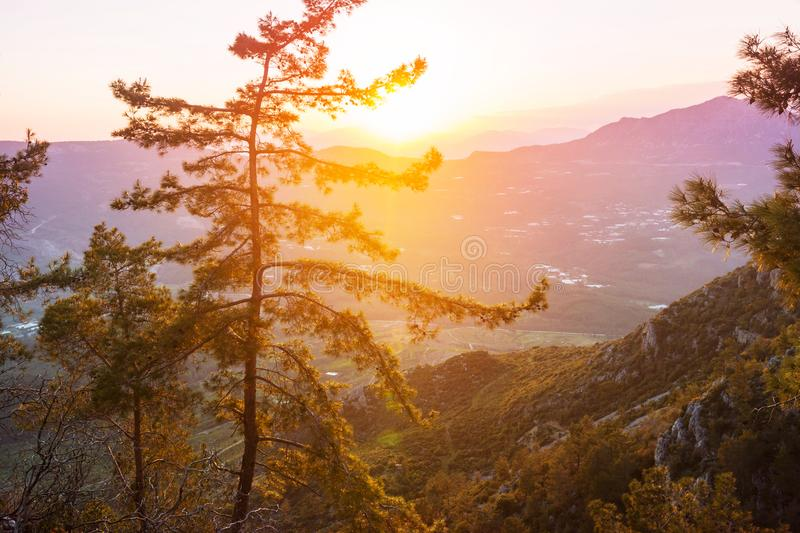 Lycian way. Beautiful nature landscapes in Turkey mountains. Lycian way is famous among hikers royalty free stock photo