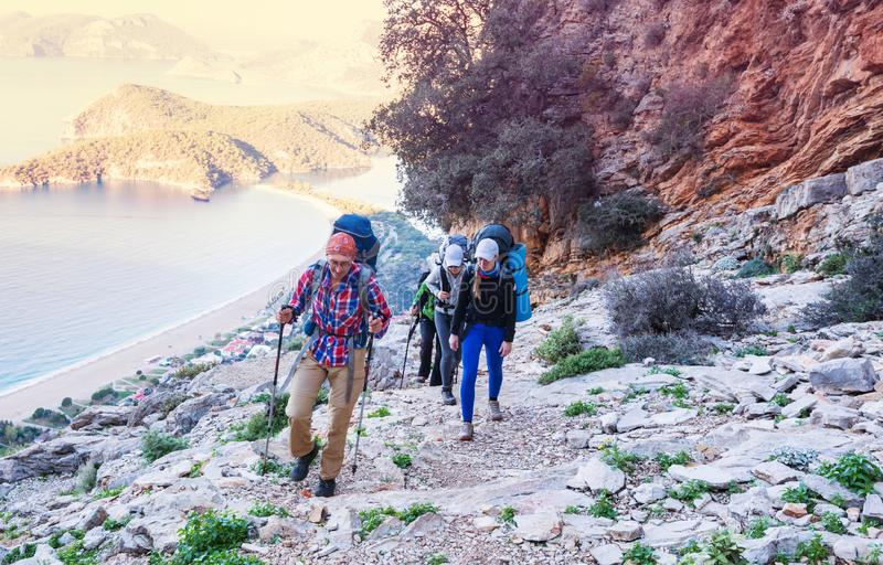 Lycian way. Beautiful nature landscapes in Turkey mountains. Lycian way is famous among hikers stock photography