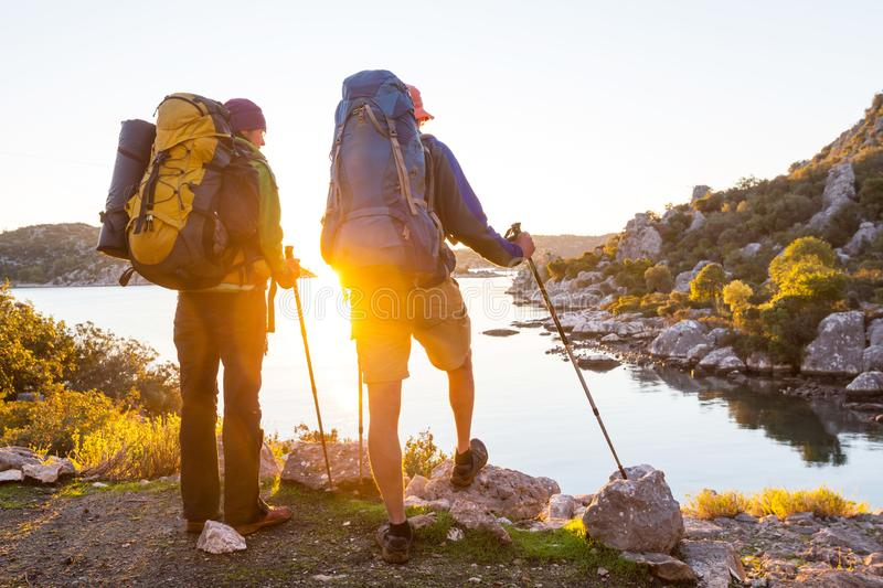 Lycian way. Beautiful nature landscapes in Turkey mountains. Lycian way is famous among hikers stock photos