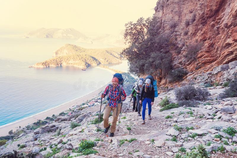 Lycian way. Beautiful nature landscapes in Turkey mountains. Lycian way is famous among hikers royalty free stock image