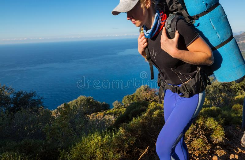 Lycian way. Beautiful nature landscapes in Turkey mountains. Lycian way is famous among hikers royalty free stock photography