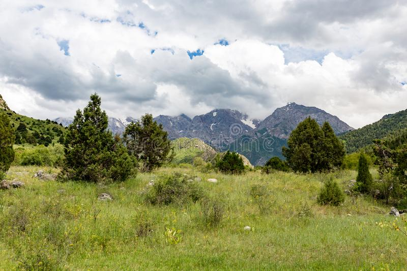 Beautiful nature in the mountains of Kazakhstan stock images