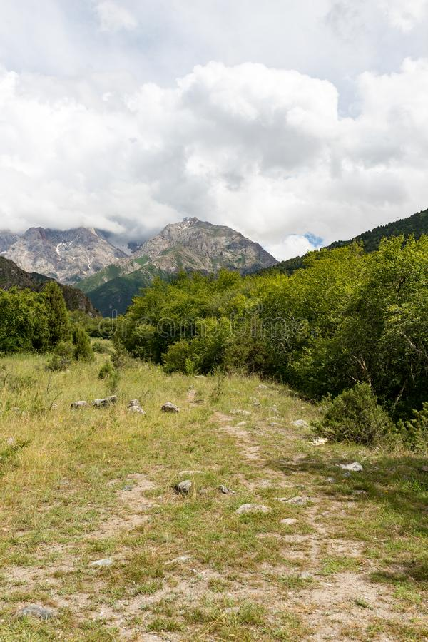 Beautiful nature in the mountains of Kazakhstan stock image