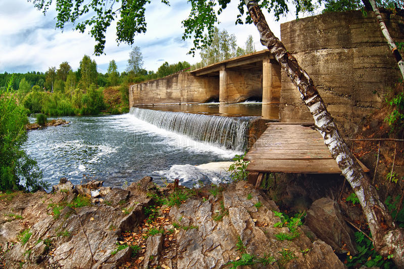 Beautiful nature of Russia River Suenga summer royalty free stock photo