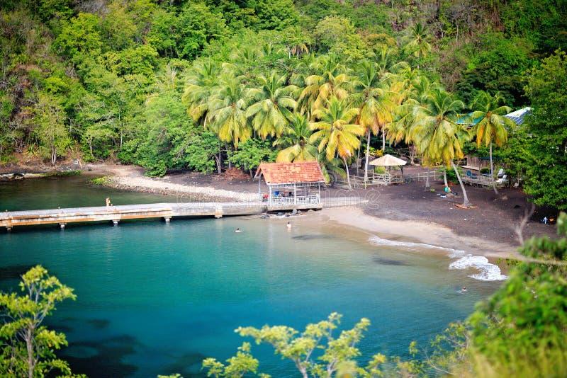 Anse Noire, near Grande Anse, Martinique, Carribbean royalty free stock photos