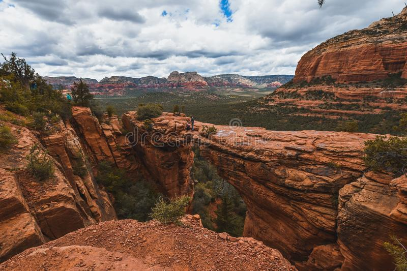 Beautiful nature in Sedona, town of Arizona. Tourism in United States of America.  stock photography